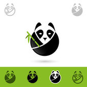 Giant panda — Stock Vector