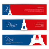 Paris banners — Stock Vector