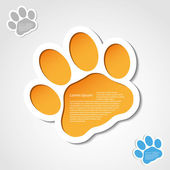 Cat paw banner — Stock Vector