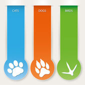 Pet banners — Stock Vector