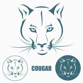 Cougar — Stockvektor