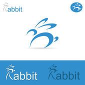 Rabbit sign — Vector de stock