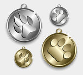 Medallion for cats and dogs — Stock vektor