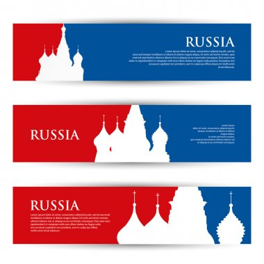 Russia banners