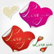Love you note — Stock Vector