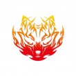 Fire wolf — Stock Vector #46551851