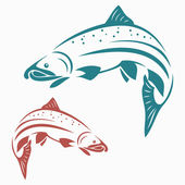 Salmon fish — Vector de stock