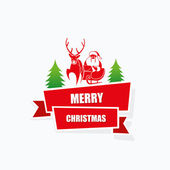 Santa Claus and reindeer — Stock Vector