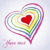 Rainbow heart. — Stock Vector