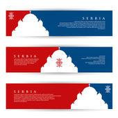Serbia banners — Stock vektor