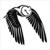 Owl in flight — Stock Vector