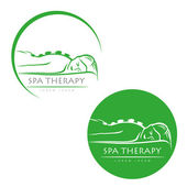 Spa therapy label — Vector de stock
