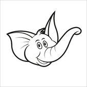 Cute elephant head — Stock Vector