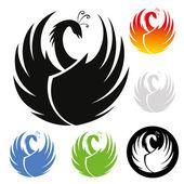 Phoenix symbol — Stock Vector