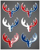 Set of deer emblems — Stock Vector