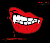Vampire fangs — Stock Vector