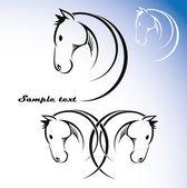 Symbole du cheval — Vecteur