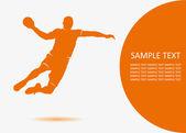 Handball player — Stock Vector