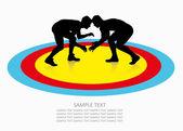 Wrestling background — Stock Vector