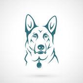 German Shepherd dog — Stock Vector