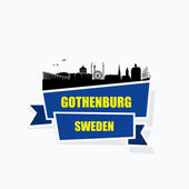Gothenburg skyline — Stock Vector
