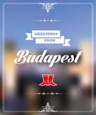 Greetings from Budapest — Stock Vector