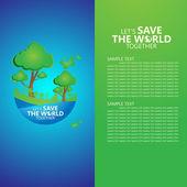 Salvar o mundo — Vetor de Stock