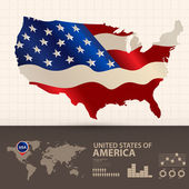 Amerikanska vektor — Stockvektor