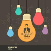 Business idea — Stock Vector