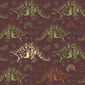 Jurassic Stegosaurus. Seamless vector pattern — Stock Vector