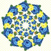 Diadema de flores — Vector de stock
