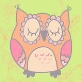 Vector illustration of cute cartoon owl — Stockvektor
