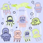 Cute baby jellyfish. Vector EPS10 — Stock Vector