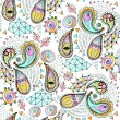 Seamless geometric pattern in paisley style. — Stock Photo #45942059
