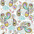 Seamless geometric pattern in paisley style. — Stock Photo