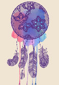 Abstract decoration lacy dream catcher — Stock Photo