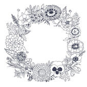 Abstract floral wreath. — Stock vektor