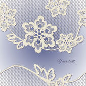 Staré krajky pozadí, okrasné květiny. — Stock vektor