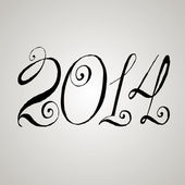 New year 2014 lettering. — Stock Vector