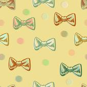Bezešvé vzor motýlka retro barvy a puntíky. — Stock vektor