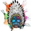 Lacy human skull in native american indian — Stock Photo #46214373