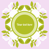 Flower background with place for text. — Stock Vector