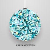 Christmas ball -- greeting card. — Stock Vector