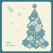 Lacy Christmas tree. — Stock Vector