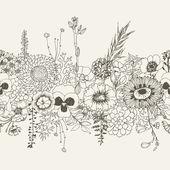 Floral seamless border. — Stock Vector