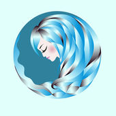Profile of an abstract woman — Stock Vector