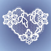 Lace heart . — Stock Vector