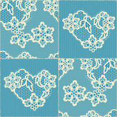 Lace background, ornamental flowers, patchwork — Stock Vector