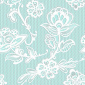Old lace background, ornamental flowers. — Stock Vector