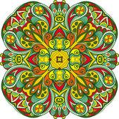 Ornamental round lace. — Stock Vector